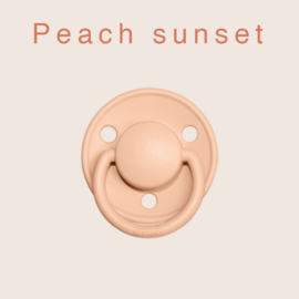 BIBS deluxe silicone OS - Peach Sunset