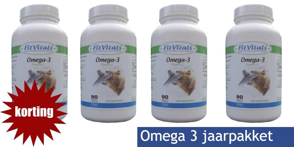 Veel voordeel op Fitvitals jaarpakket Omega 3