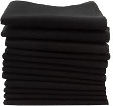 Wasbare reinigingsdoekjes - Black - 10 stuks -