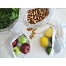 Groente en fruit zakjes set  - 5 stuks
