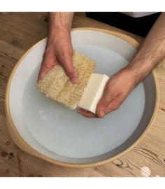 Plantaardige schoonmaak spons