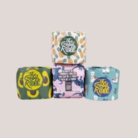 The Good Roll Plasticvrij Toiletpapier - Cheerful Choice - 4 Pack - Paperbag