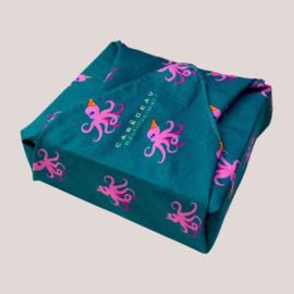 Herbruikbaar inpak papier Dancing Octopus (Size S)