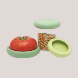 Foodhugger siliconen deksel set soft greens (3)