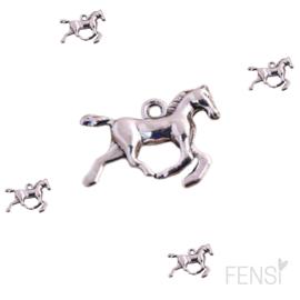 DQ Bedels - paard in galop - zilver - per stuk