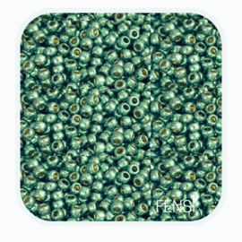 TOHO Rounds 2mm - TR-11-PF561 Galvanized Green Teal