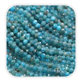 Edelsteen kralen - apatite -  ca. 2,5mm