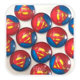 Cabochons 12 mm - superman - per stuk
