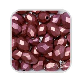 FP Oval Facet - metallic suede pink/copper- per 10 stuks