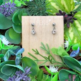 Kinderoorbellen - oorstekers met crystal hanger - crystal