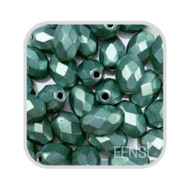 FP Oval Facet - metallic mint green - per 10 stuks