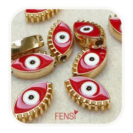 BOHO Beads - oog rood- per stuk