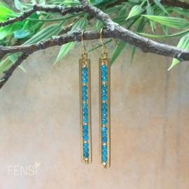 FENSI Boho Chic - oorbellen - Apatite brass