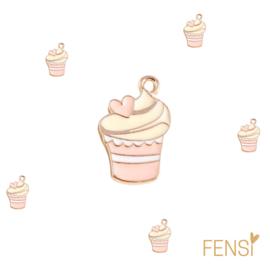 Trendy Bedels - swirly ijsje - emaille - per stuk