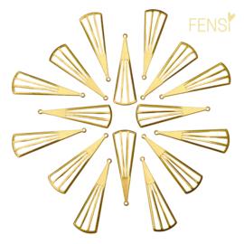 Raw Brass - bedel waaier - per 2 stuks