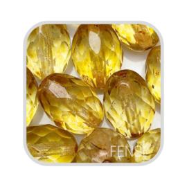 FP Oval Facet - crystal travertin - per stuk