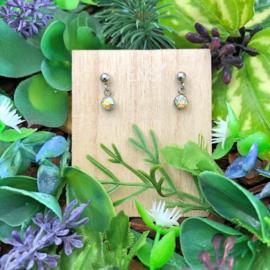 Kinderoorbellen - oorstekers met crystal hanger - crystal shine AB