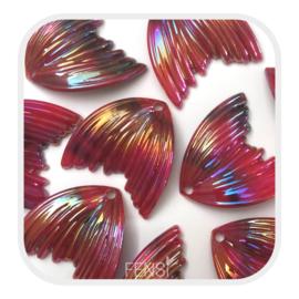 Acryl bedel - meermin red rainbow - per stuk