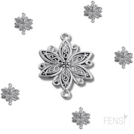 DQ Bedels - vintage bloem connector - per stuk