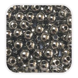 Acryl kralen 4mm - zilver
