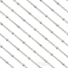 Stainless steel jasseron bolletjes 2 mm - zilver - per 10 cm