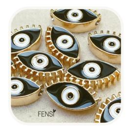BOHO Beads - oog zwart- per stuk