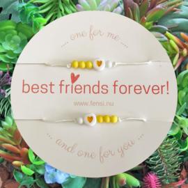 FENSI Kinderarmband - BFF - geel