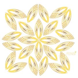 Raw Brass - ornamental - per 2 stuks