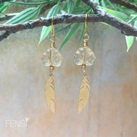 FENSI Boho Chic - oorbellen - Amber gold