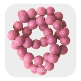 Glaskralen  pumice 6mm - pink