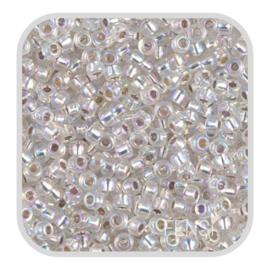 Miyuki Rocailles 8/0 - silverlined ab crystal 8-1001