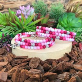 FENSI - Kinderarmband met sparkle - roze - per stuk