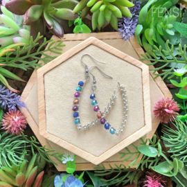 FENSI Good Vibes - oorbellen - wire-wrap multicolor