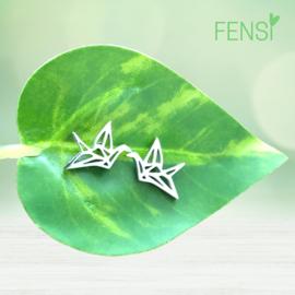 Kinderoorbellen - stainless steel oorstekers - vogel