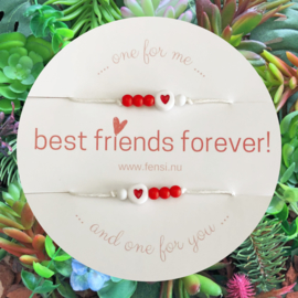 FENSI Kinderarmband - BFF - rood