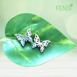 Kinderoorbellen - stainless steel oorstekers - vlinder