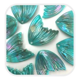 Acryl bedel - meermin aqua rainbow - per stuk