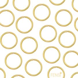 Stainless steel buigring 5x1.1mm - goud - per 6 stuks