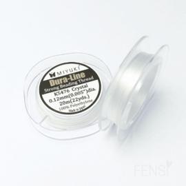 Miyuki Dura-Line rijgdraad 0.12 mm crystal