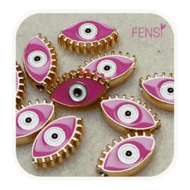 BOHO Beads - oog roze - per stuk