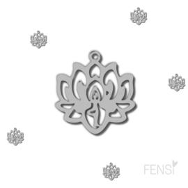 Stainless steel bedel - lotus - per stuk