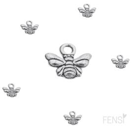 DQ Bedels - mini bijtje - zilver - per stuk
