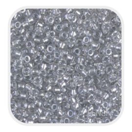 Miyuki Rocailles 8/0 - sparkle pewter lined crystal 8-242