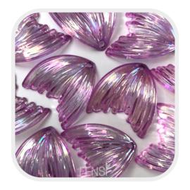 Acryl bedel - meermin purple rainbow - per stuk