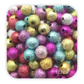 Acryl kralen 4mm - multicolor glitter