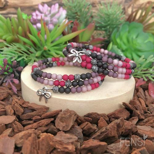 FENSI - Kinderarmband met sparkle - dark leopard - per stuk