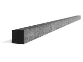 Schuttingpaal 7x7x260 cm   (versterkt) kleur zwart
