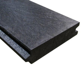 Damwand beschoeiing tussenwanden 32 mm dik 13,5 cm werkende breedte  98 cm lang