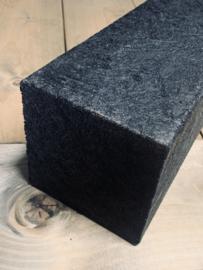 kunststof balk 15x15 cm zwart 150 cm