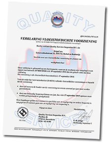 Certificaat pvc tegels